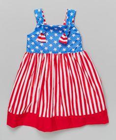 Look what I found on #zulily! Red & Blue Patriotic Knot Dress - Toddler & Girls #zulilyfinds