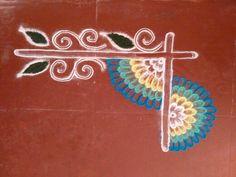 Easy Rangoli Designs Videos, Rangoli Designs Flower, Rangoli Border Designs, Rangoli Designs Images, Flower Rangoli, Beautiful Rangoli Designs, Flower Mandala, Rangoli Borders, Rangoli Patterns