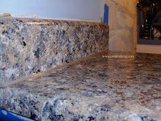 Painting Laminate Countertops to look like granite -from Creative Kristi