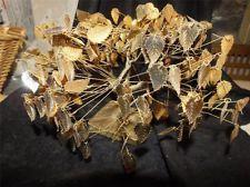 "Original Vintage ""Dream Tree"" by J E Tramel - Gold Foil Leaves w/ Twisted Metal"