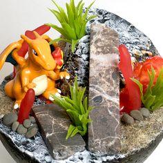 lava ruins ______ #pokemondiorama #charizard #pokemon #dioramaland #sharksnail Charizard, Lava, Shark, Etsy, Plants, Dioramas, Pokemon Images, Miniature, Craft Gifts
