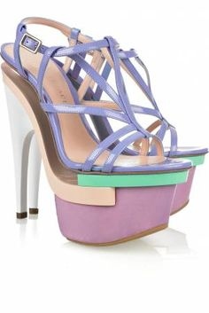 versace. It's crazy how even though these shoes are wild the pastel colors just make them acceptable.
