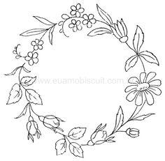 ❤︎ flower circlet - embroidery design
