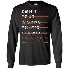 Twenty One Tshirt Pilot Don't Trust T-Shirt-01 LS Ultra Cotton Tshirt