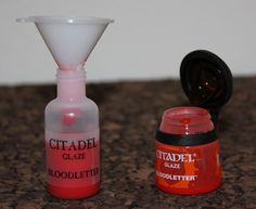 Transferring Citadel Paints to Dropper Bottles