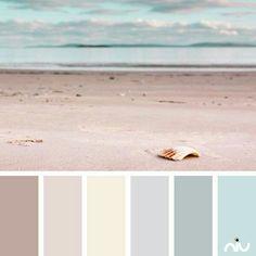 pastel beach (landscape) Color Palette - Paint Inspiration- Paint Colors- Paint Palette- Color- Design Inspiration pretty for a lounge Pastel Colour Palette, Pastel Colors, Colours, Colour Palettes, Neutral Colors, Colour Palette 2018, Pink Color, Paint Schemes, Colour Schemes