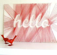 """""""Hello"""" DIY String Art - Incredible DIY String Art Ideas for Your Home"""