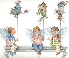 Bird House Row by Carolyn Shores Wright