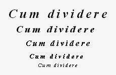 Queste pagine: Sfumature originarie di significato - Cum dividere...