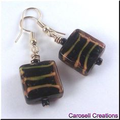 Your place to buy and sell all things handmade Ladies Fashion, Womens Fashion, Tiger Print, Yellow Stripes, Bead Earrings, Tigers, Seed Beads, Holiday Gifts, Glass Beads