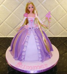 Image result for rapunzel doll cake