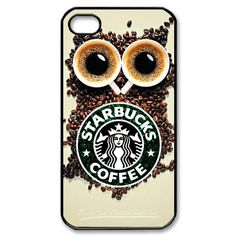 Specially Design Starbucks Coffee Iphone 4 4S With Owl Background Hard Case Cover:Amazon:Cell Phones & Accessories