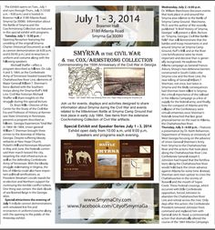 Special 150th events beginning tomorrow evening in Smyrna.