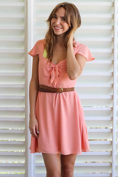 Coral Party Time Dress