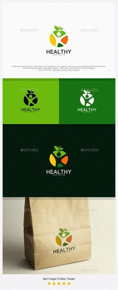 Healthy Food and Body Logo  #health care #herbal #garden • Click here to download ! http://graphicriver.net/item/healthy-food-and-body-logo/12835536?ref=pxcr