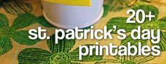 20 st. patrick's day printables