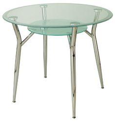 A6K Circular Glass top table