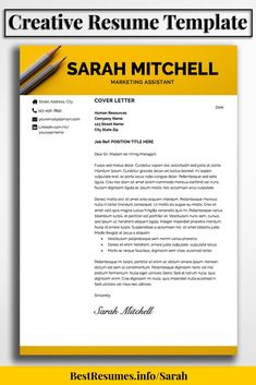 Resume Template Sarah Mitchell  Perfect Resume Resume Examples
