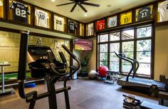 great gym man cave-style