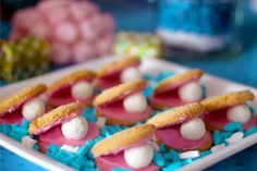 Mermaid Party Oyster and Pearl Cookies #mermaid #cookies
