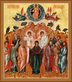 Risultati immagini per ascensione icona Religious Icons, Religious Art, Icon 5, Byzantine Art, Orthodox Icons, Renaissance Art, Holi, Religion, Creations