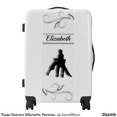 Tango Dancers Silhouette Personalized Luggage