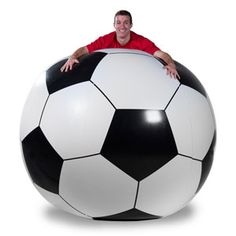 Umm I think I want to practice with this ball from now on! lol - Massive 6' Inflatable Soccer Ball