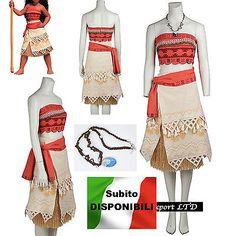Vaiana Vestito Carnevale Donna Bambina Cosplay Dress Moana Costume VAIDR02