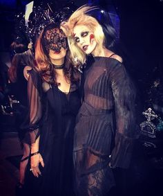 Ghoulish girls...  Former @portermagazine cover star @anja_rubik and our Editor @lucy_yeomans in the @stellamccartney graveyard at last night's @nakedheartfoundation #fundfair hosted by @natasupernova in New York  via PORTER MAGAZINE OFFICIAL INSTAGRAM - Celebrity  Fashion  Haute Couture  Advertising  Culture  Beauty  Editorial Photography  Magazine Covers  Supermodels  Runway Models