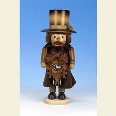 Nutcracker Blackforest Clockmaker natural colors  -  41,5cm / 16 inch