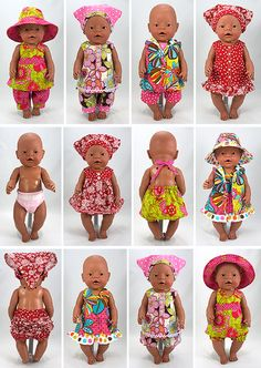 Whole lot of cute babyborn outfits!