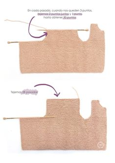Knitted Girly Vest – Baby Knitting Pattern & Tutorial - Sew,Knit, Loom Knitting and Crochet - Knitted Girly Vest – Free knitting Pattern & tutorial - Diy Crafts Knitting, Knitting For Kids, Knitting For Beginners, Baby Knitting Patterns, Loom Knitting, Baby Patterns, Free Knitting, Knitting Stitches, Frock Patterns