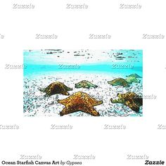 Ocean Starfish Canvas Art