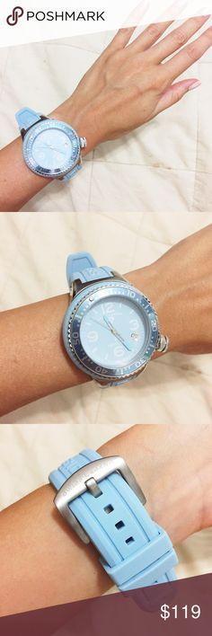 Swiss Legend Light Blue Watch Swiss Legend Light Blue Watch. Never worn. Silver hardware Swiss Legend Jewelry Bracelets