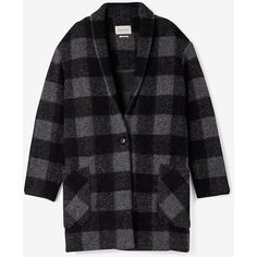 ETOILE ISABEL MARANT Gabrie Check Jacket (30,610 INR) ❤ liked on Polyvore