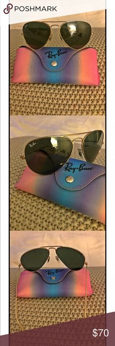 😎 RAY BAN SUNGLASSES 😎 Glasses do have tiny little scratches on lenses but are not noticeable once you gave them on neither you see them while wearing them. They come with original case. 😍 Ray-Ban Accessories Sunglasses