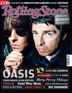 Oasis On The Front Cover Of German Rolling Stone Magazine