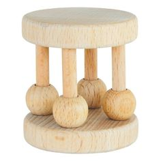 $7.99-$7.99 Baby Sustainable! Wood beads spin and rattle to entertain baby. Sustainable rubber wood is a natural, germ-repellent surface. Biodegradable and recyclable. Size: 3 mo+  Our first priority for growing babies is to make sure everything they put in their mouths is healthy, safe and promotes the development of a strong immune system.  Read More enlarge image   select thumbnail