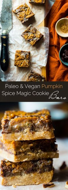 Pumpkin Spice Paleo Magic Cookie Bars #justeatrealfood #foodfaithfitness