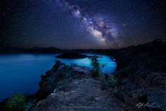 Starry Night over Crater Lake