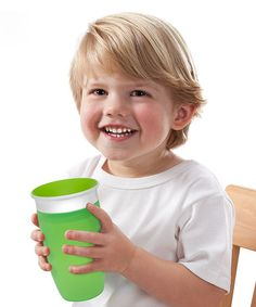 Look at this #zulilyfind! Green & Blue Miracle 360˚ 10-Oz. Sippy Cup - Set of Two by Munchkin #zulilyfinds