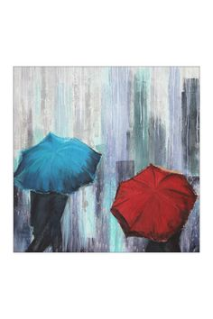 """Michigan Ave Hand Embellished Gallery Wrapped Canvas Wall Art - 35"""" x 35"""""""