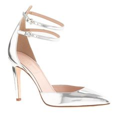 silvery, strappy stiletto love perfect for a #wedding