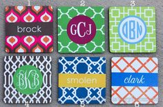Monogrammed Coaster Sets - Personalized Coasters