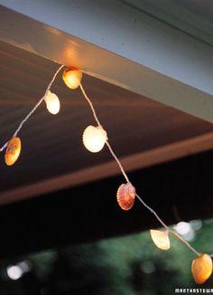 DIY Seashell Lights