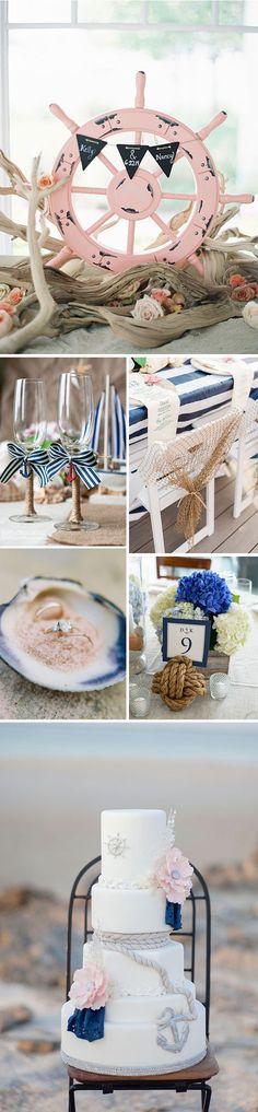 Decoración para una boda en la playa Más Wedding Motiff, Destination Wedding Decor, Party Fiesta, Beach Cakes, Key West Wedding, Diy Wedding Gifts, Wedding Welcome Signs, Nautical Wedding, Shower Party