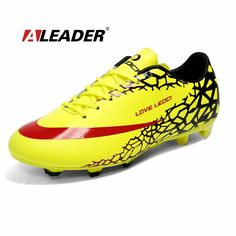 online store 6d85a e7988 Men s Soccer Shoes 2015 Outdoor Long Spikes FG Men Football Shoes Women Boys  Soccer Sneakers Athletic