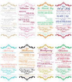 Wine Poems Set of 8 tags perfect for Bridal Shower by 4EverNAlways