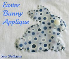 Easter Bunny Applique. Turn a plain kids t-shirt into something great for Easter morning. These cute bunnies are adorable for a quick t-shirt transformation. #sewing