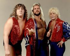 The Fabulous Freebirds...they always seemed to be the wrestlers to go against the Von Erich family.